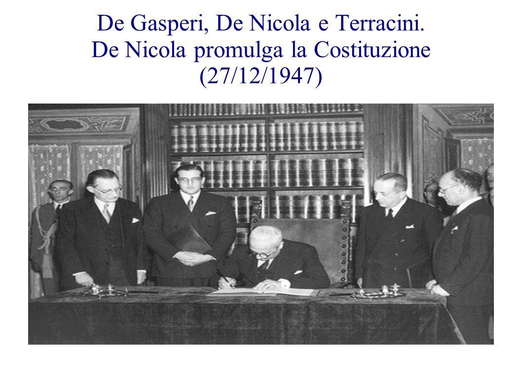 De Gasperi, De Nicola e Terracini