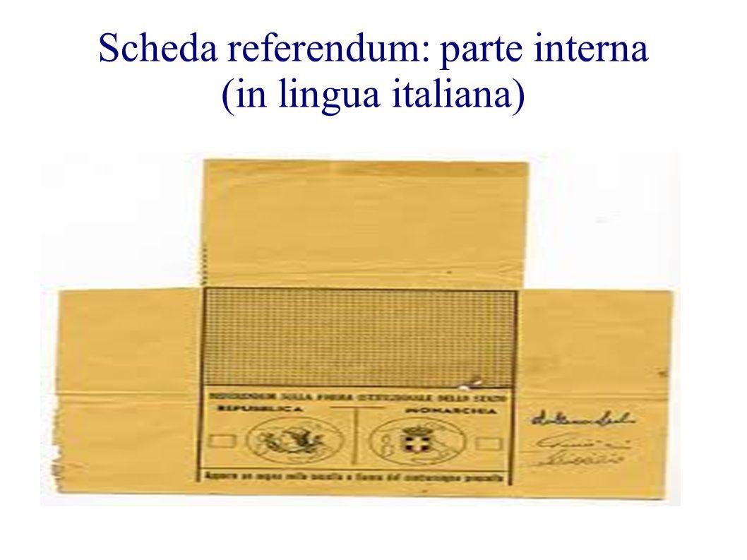 Scheda referendum: parte interna (in lingua italiana)