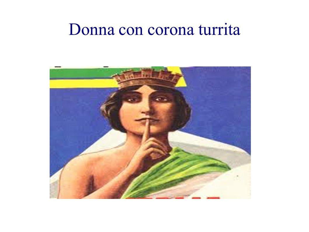 Donna con corona turrita