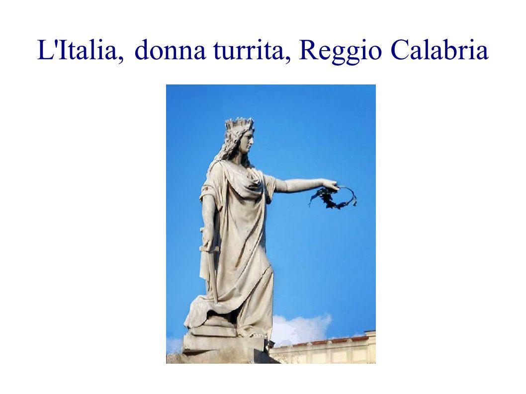 L Italia, donna turrita, Reggio Calabria