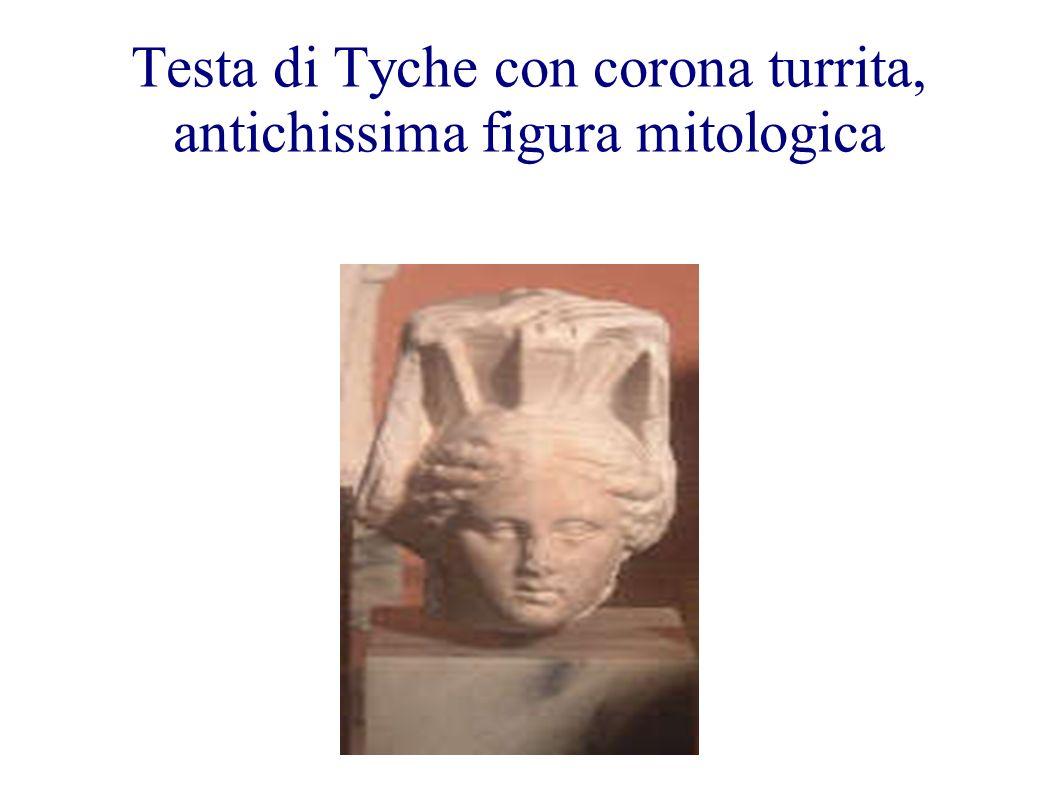 Testa di Tyche con corona turrita, antichissima figura mitologica