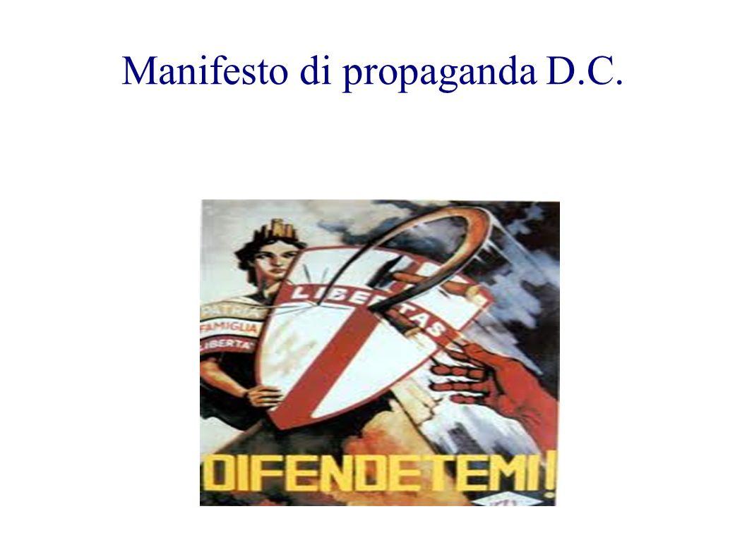 Manifesto di propaganda D.C.