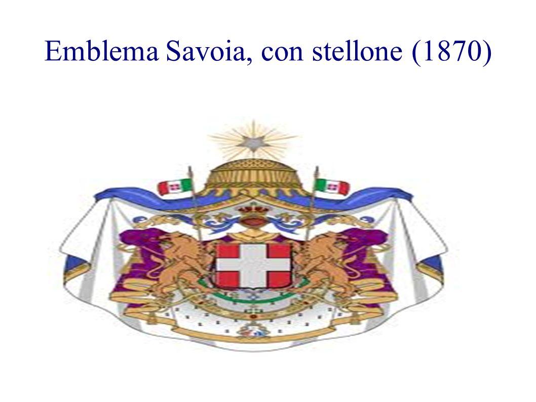 Emblema Savoia, con stellone (1870)