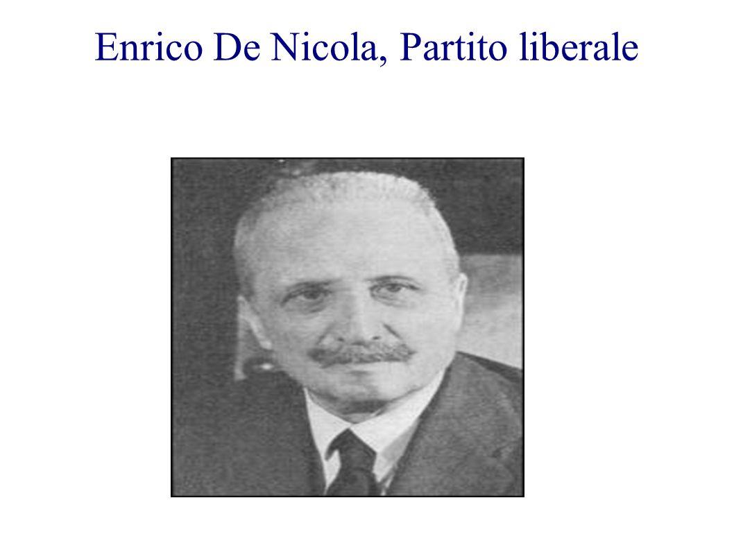 Enrico De Nicola, Partito liberale