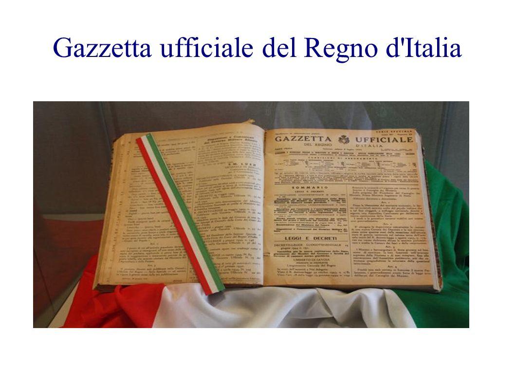 Gazzetta ufficiale del Regno d Italia