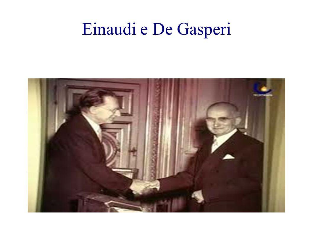Einaudi e De Gasperi