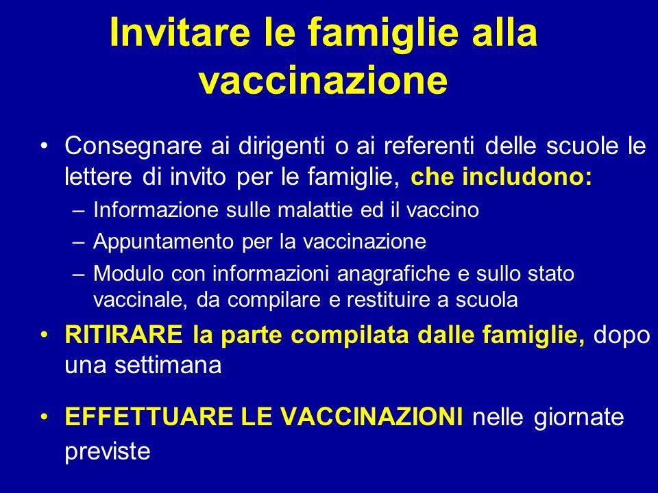 Invitare le famiglie alla vaccinazione