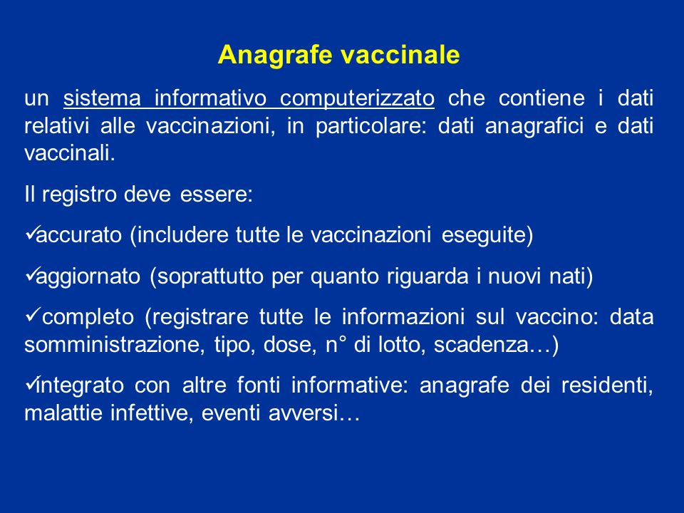 Anagrafe vaccinale