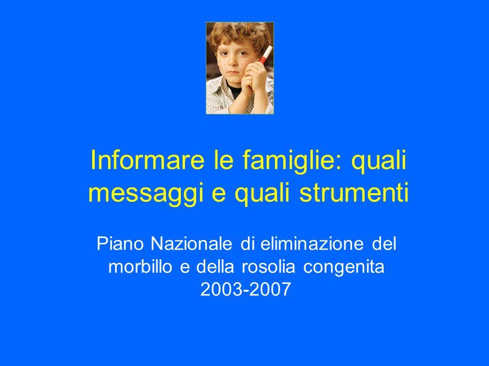 Informare le famiglie: quali messaggi e quali strumenti