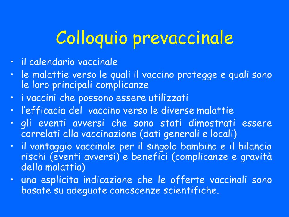 Colloquio prevaccinale