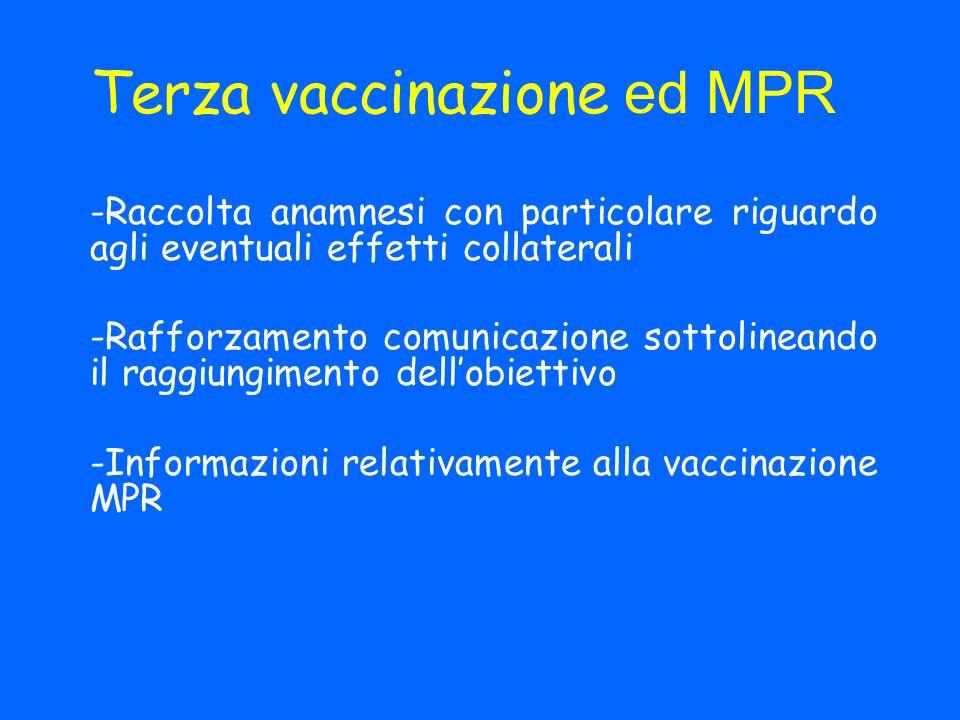 Terza vaccinazione ed MPR