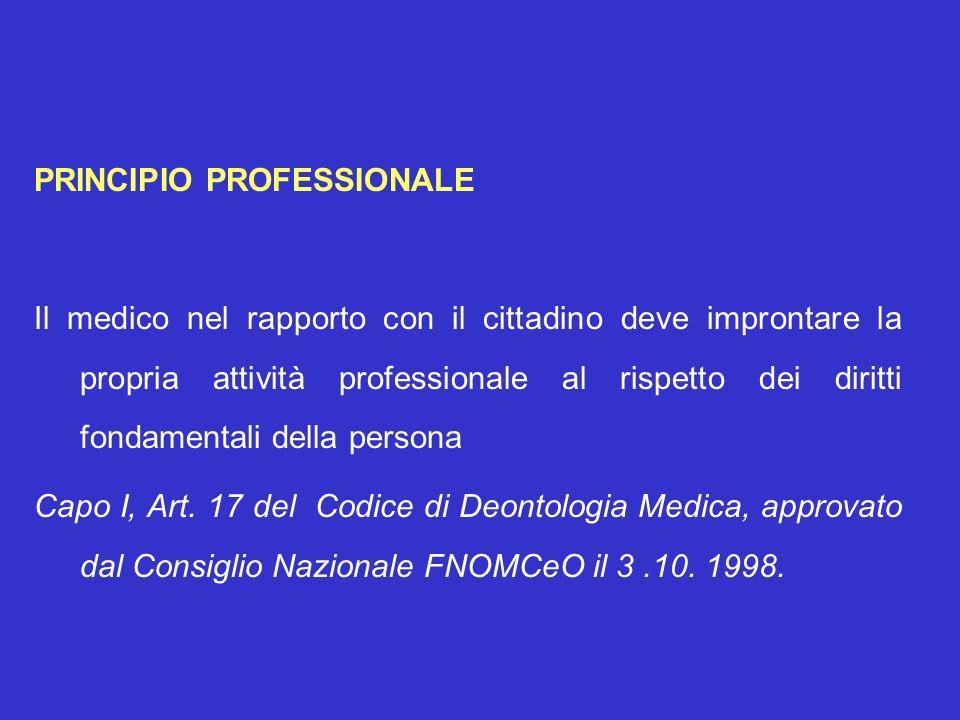 PRINCIPIO PROFESSIONALE