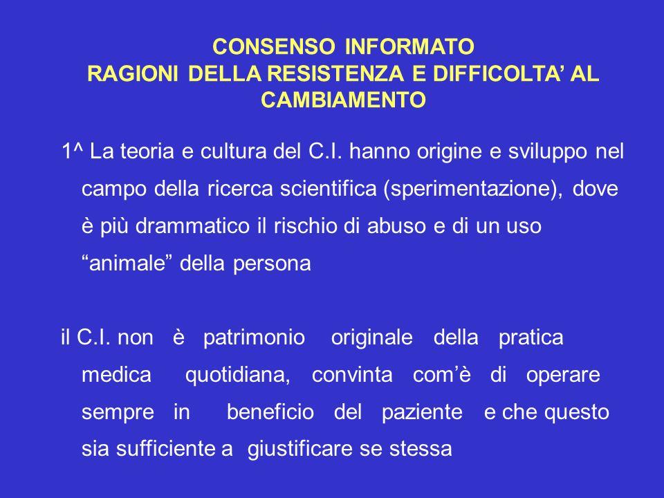 RAGIONI DELLA RESISTENZA E DIFFICOLTA' AL CAMBIAMENTO