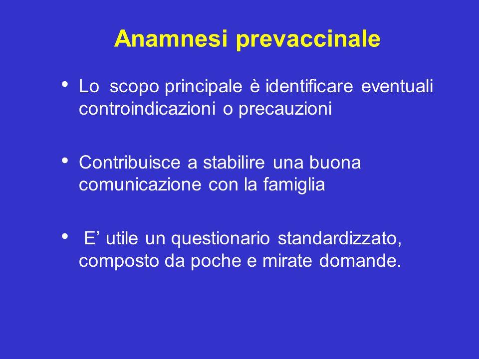 Anamnesi prevaccinale