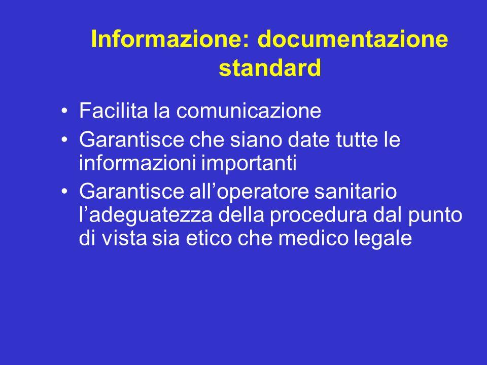 Informazione: documentazione standard