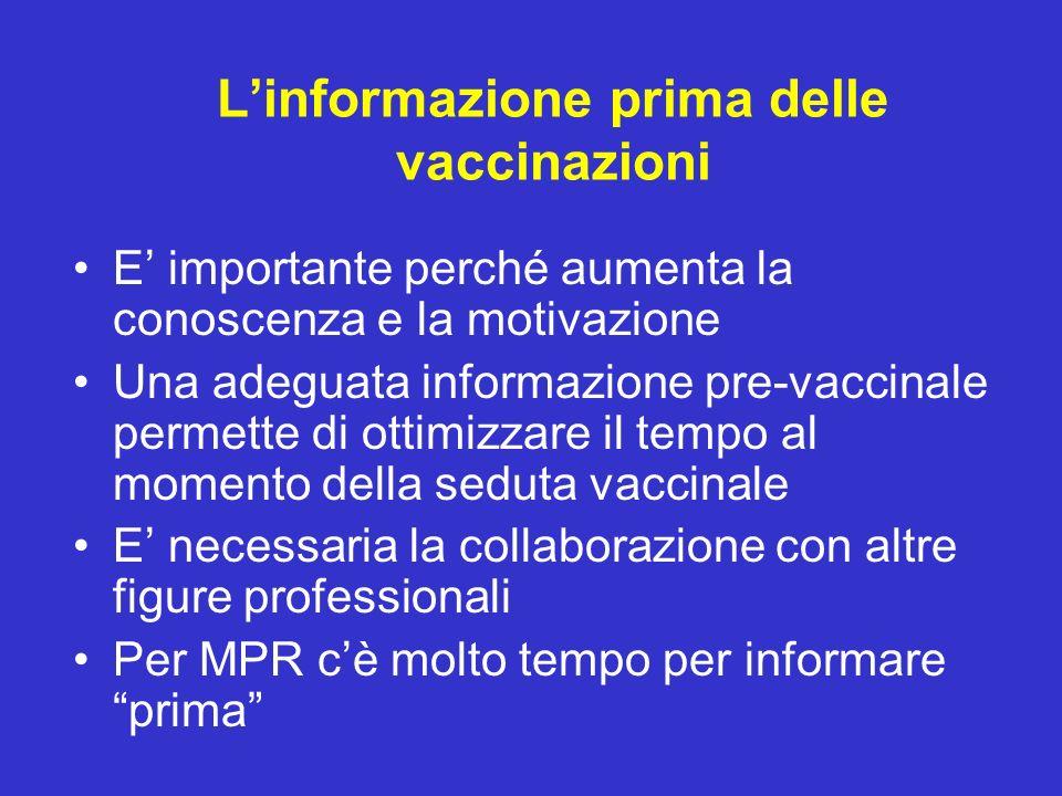 L'informazione prima delle vaccinazioni