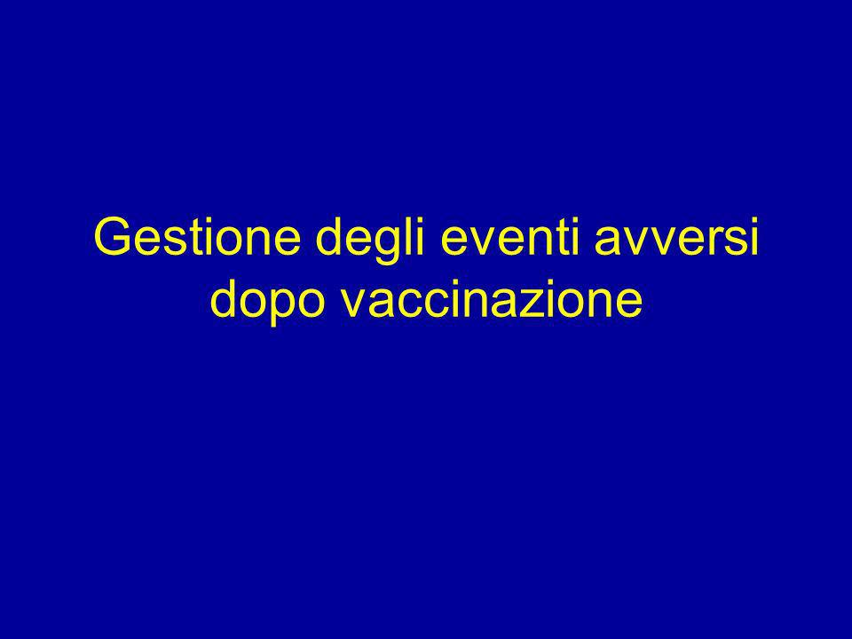 Gestione degli eventi avversi dopo vaccinazione