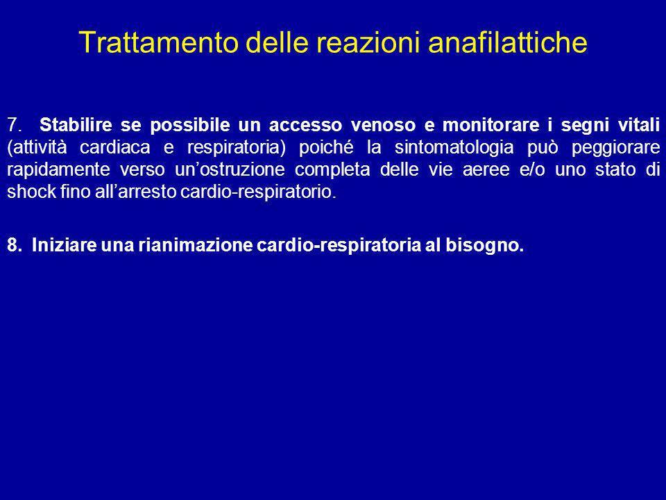 Trattamento delle reazioni anafilattiche
