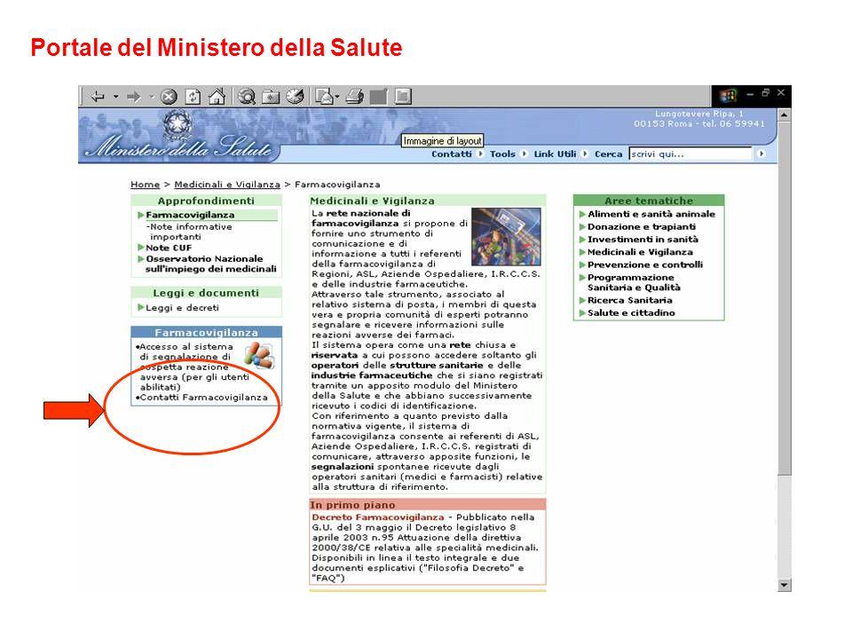 Portale del Ministero della Salute