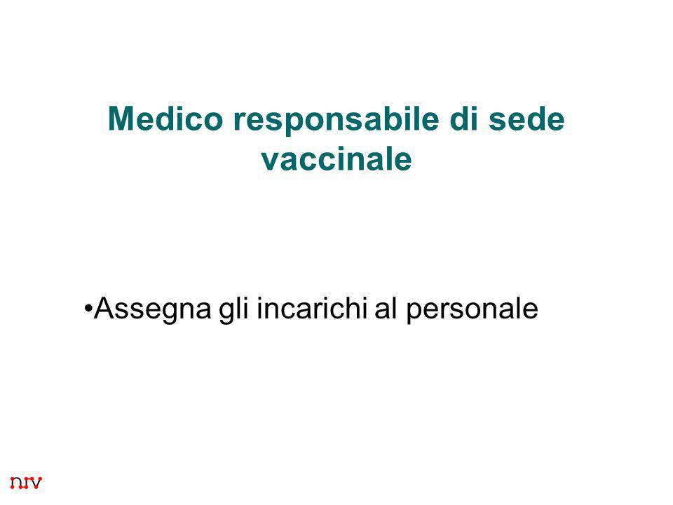 Medico responsabile di sede vaccinale