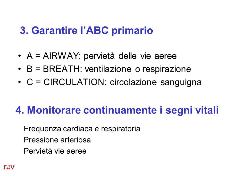 3. Garantire l'ABC primario
