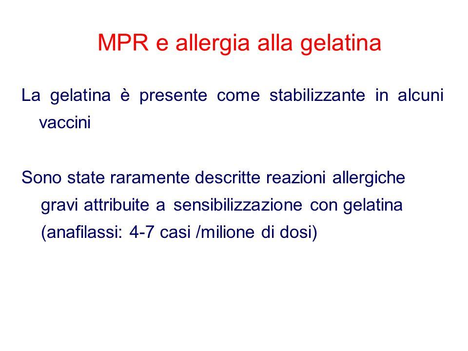 MPR e allergia alla gelatina