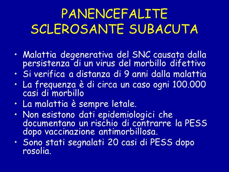 PANENCEFALITE SCLEROSANTE SUBACUTA