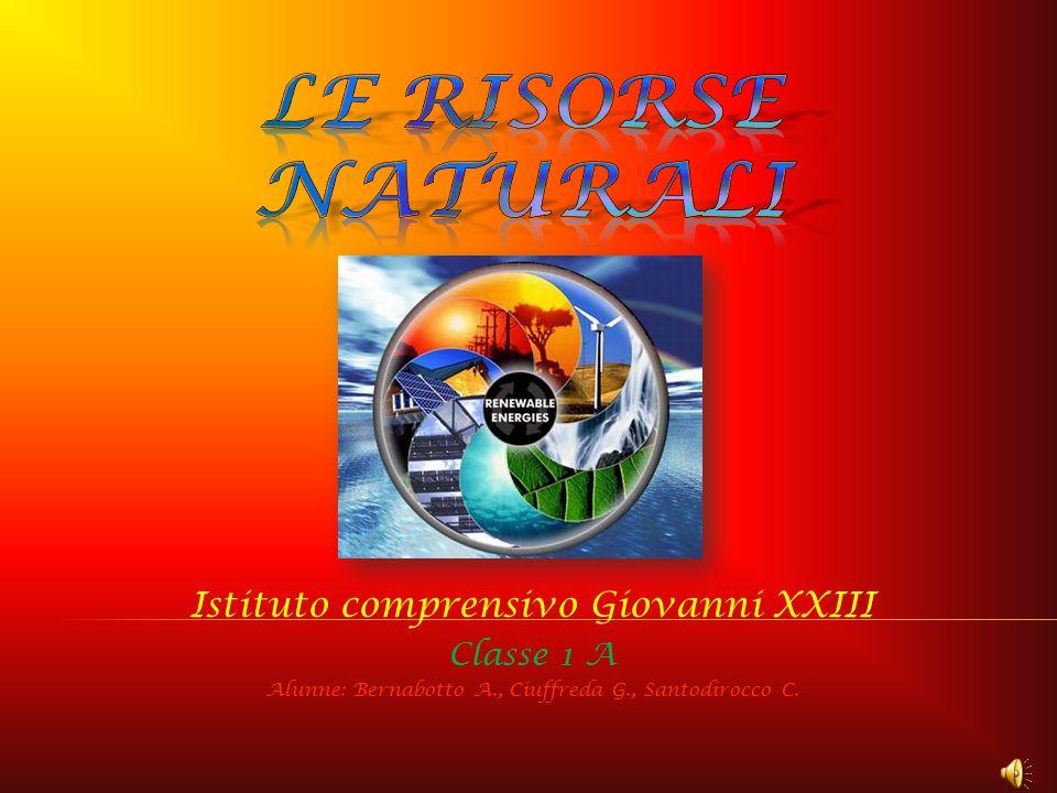 Le risorse naturali Istituto comprensivo Giovanni XXIII Classe 1 A