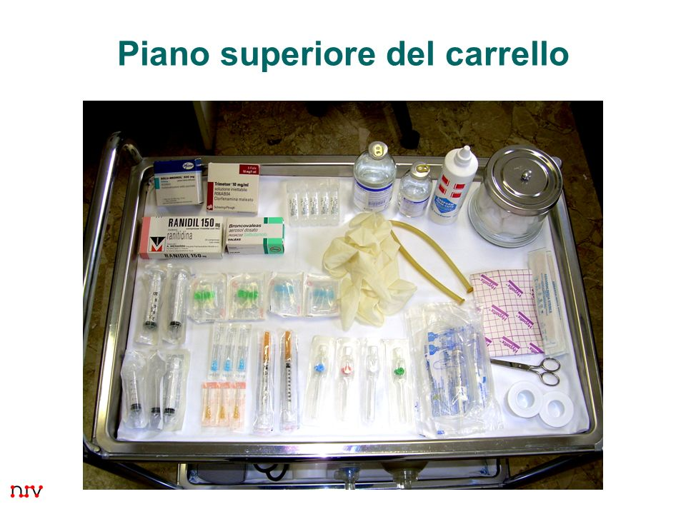 Piano superiore del carrello