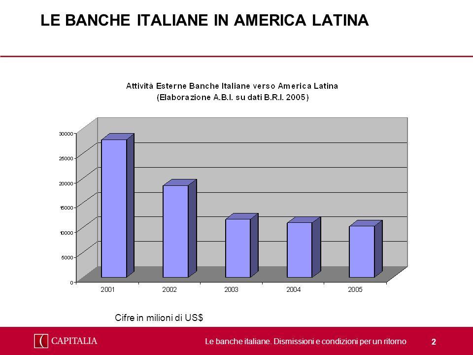 LE BANCHE ITALIANE IN AMERICA LATINA