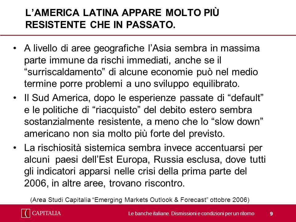 L'AMERICA LATINA APPARE MOLTO PIÙ RESISTENTE CHE IN PASSATO.