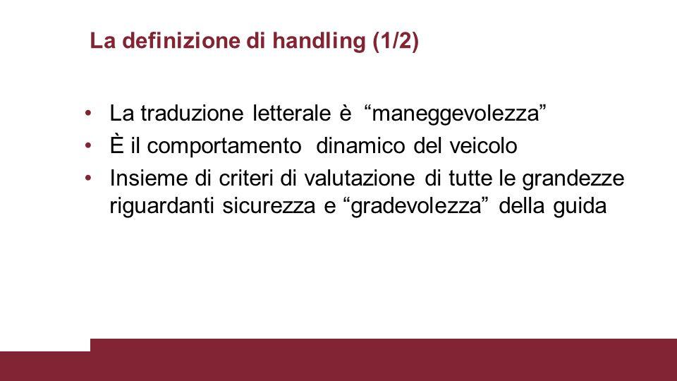 La definizione di handling (1/2)