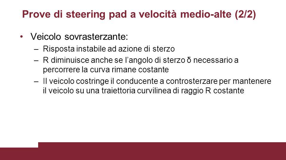 Prove di steering pad a velocità medio-alte (2/2)