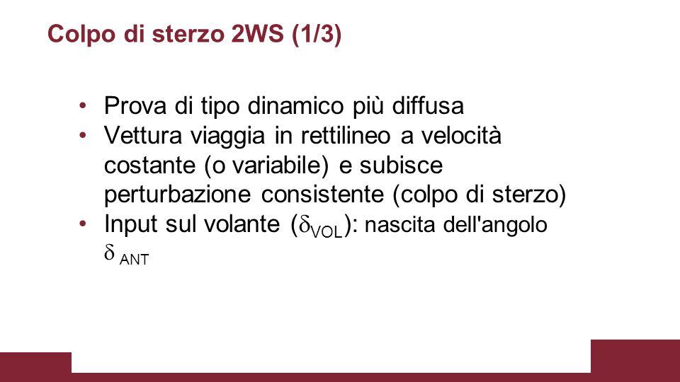 Colpo di sterzo 2WS (1/3) Prova di tipo dinamico più diffusa.