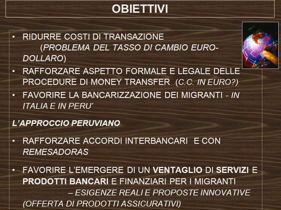OBIETTIVI RIDURRE COSTI DI TRANSAZIONE (PROBLEMA DEL TASSO DI CAMBIO EURO-DOLLARO)