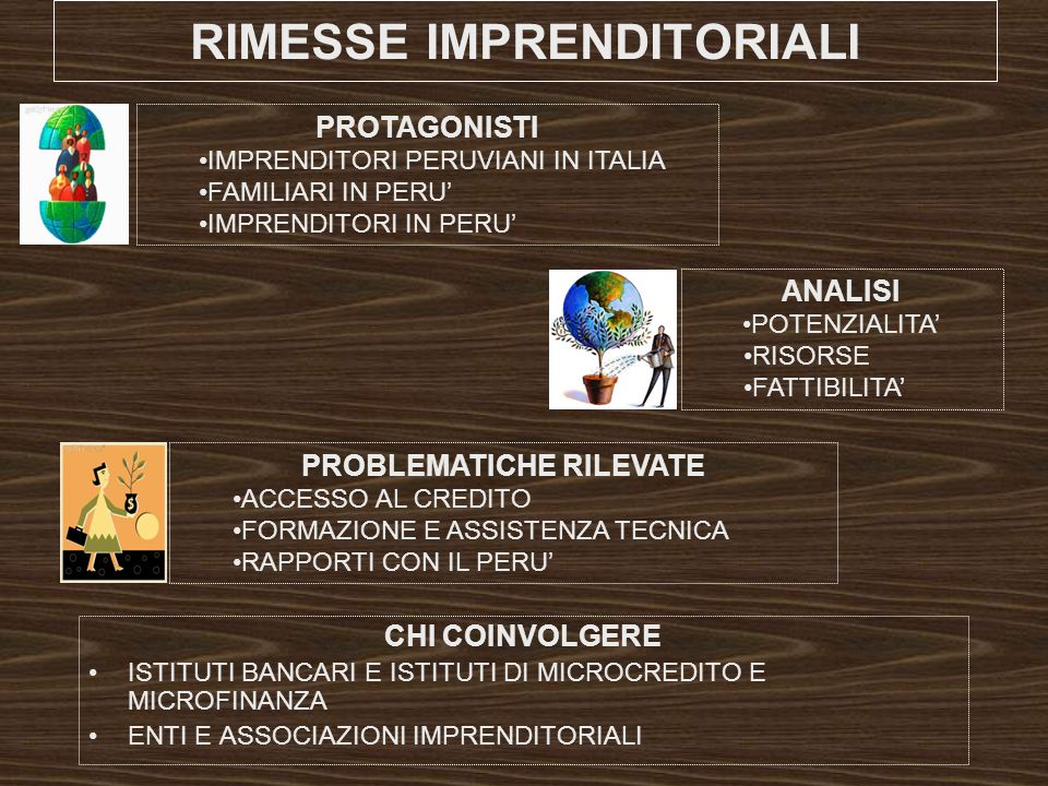 RIMESSE IMPRENDITORIALI