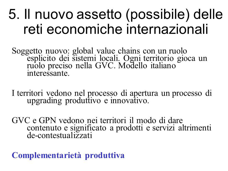 5. Il nuovo assetto (possibile) delle reti economiche internazionali