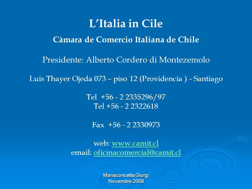 Càmara de Comercio Italiana de Chile