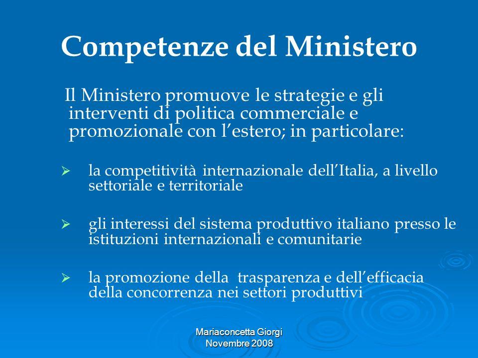 Competenze del Ministero