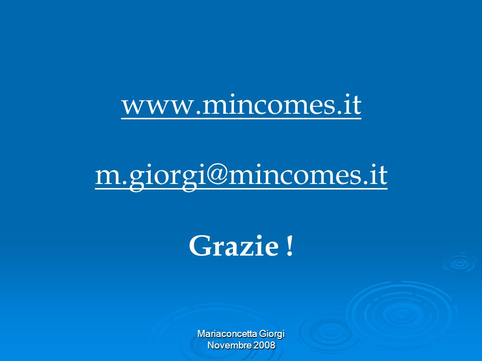 www.mincomes.it m.giorgi@mincomes.it