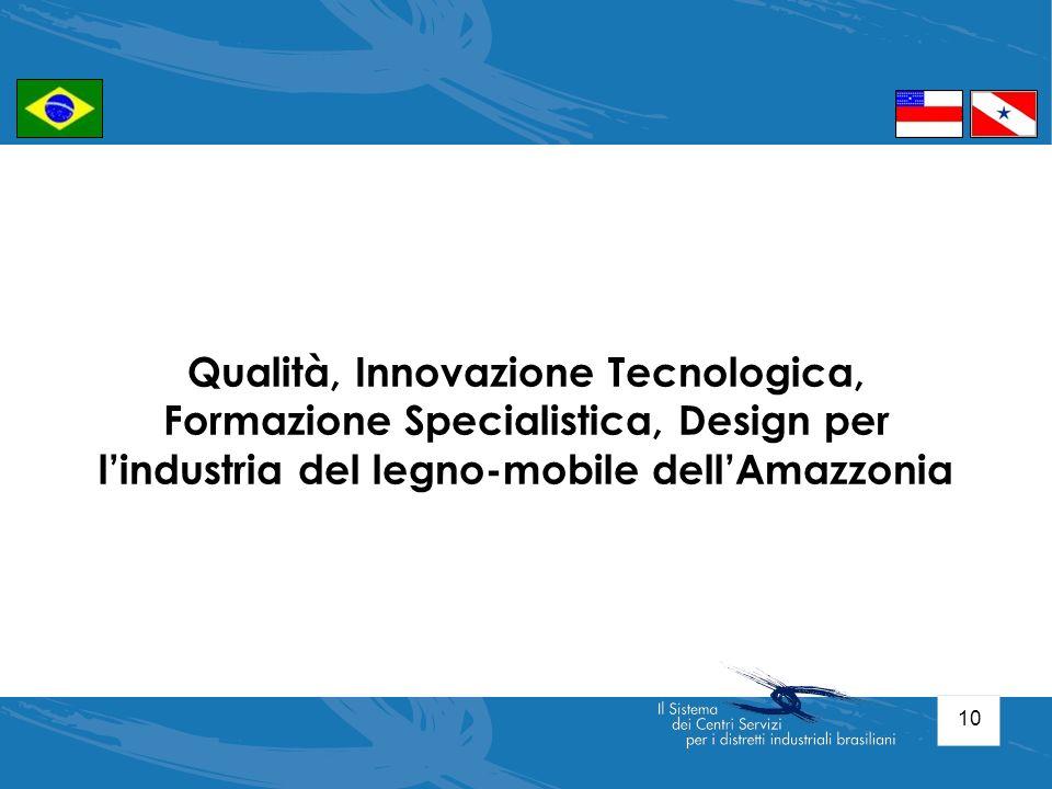 Qualità, Innovazione Tecnologica, Formazione Specialistica, Design per l'industria del legno-mobile dell'Amazzonia