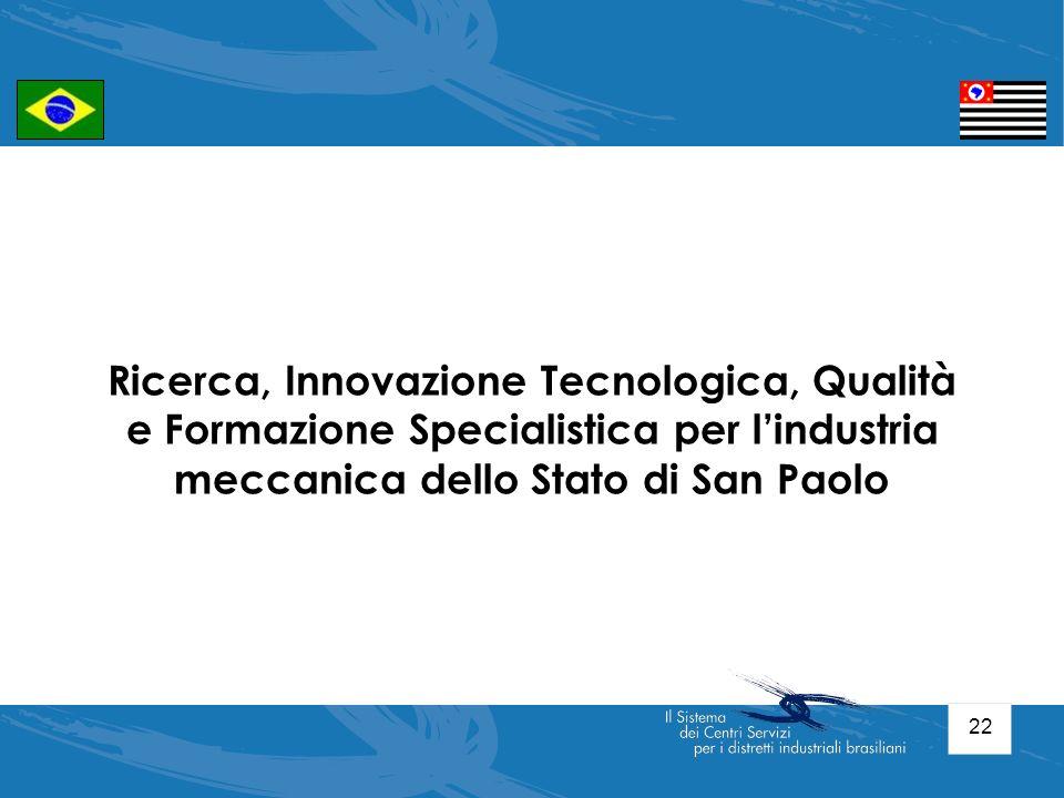 Ricerca, Innovazione Tecnologica, Qualità e Formazione Specialistica per l'industria meccanica dello Stato di San Paolo