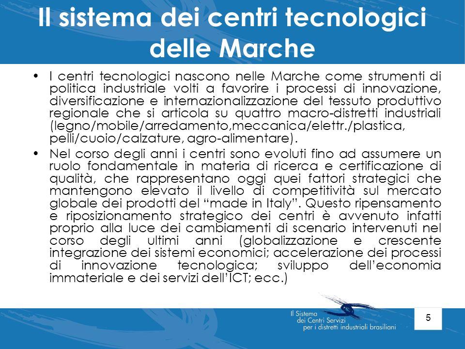 Il sistema dei centri tecnologici delle Marche