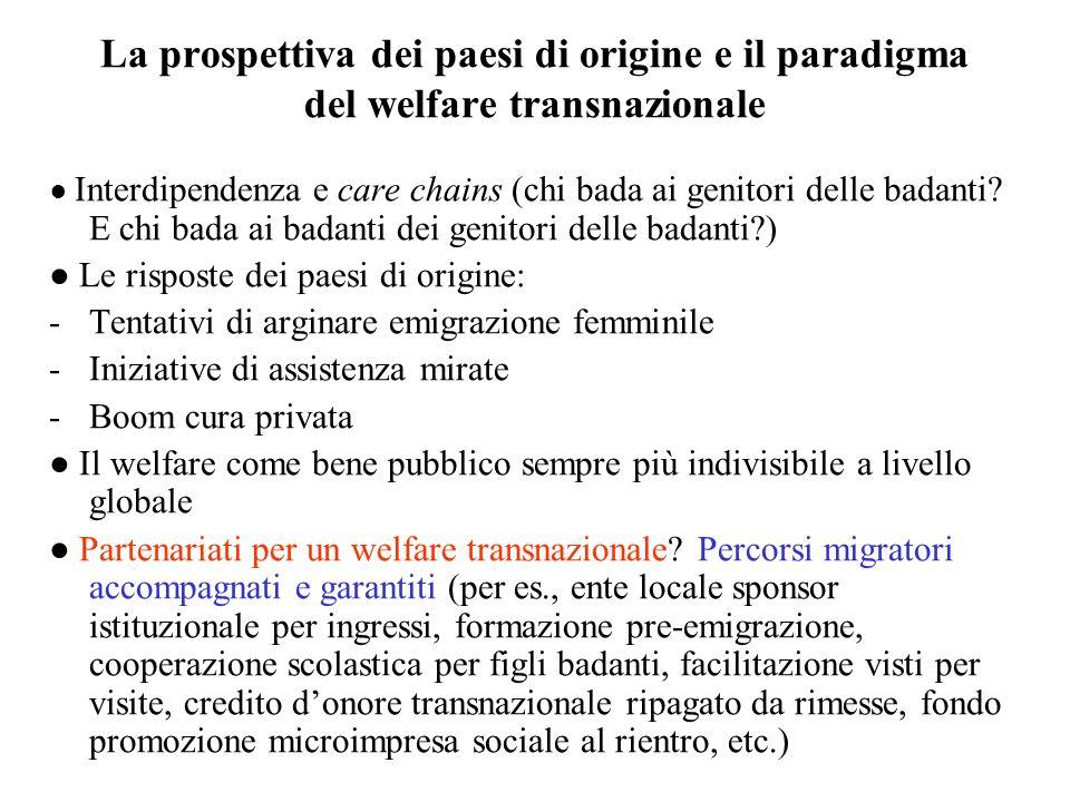 La prospettiva dei paesi di origine e il paradigma del welfare transnazionale