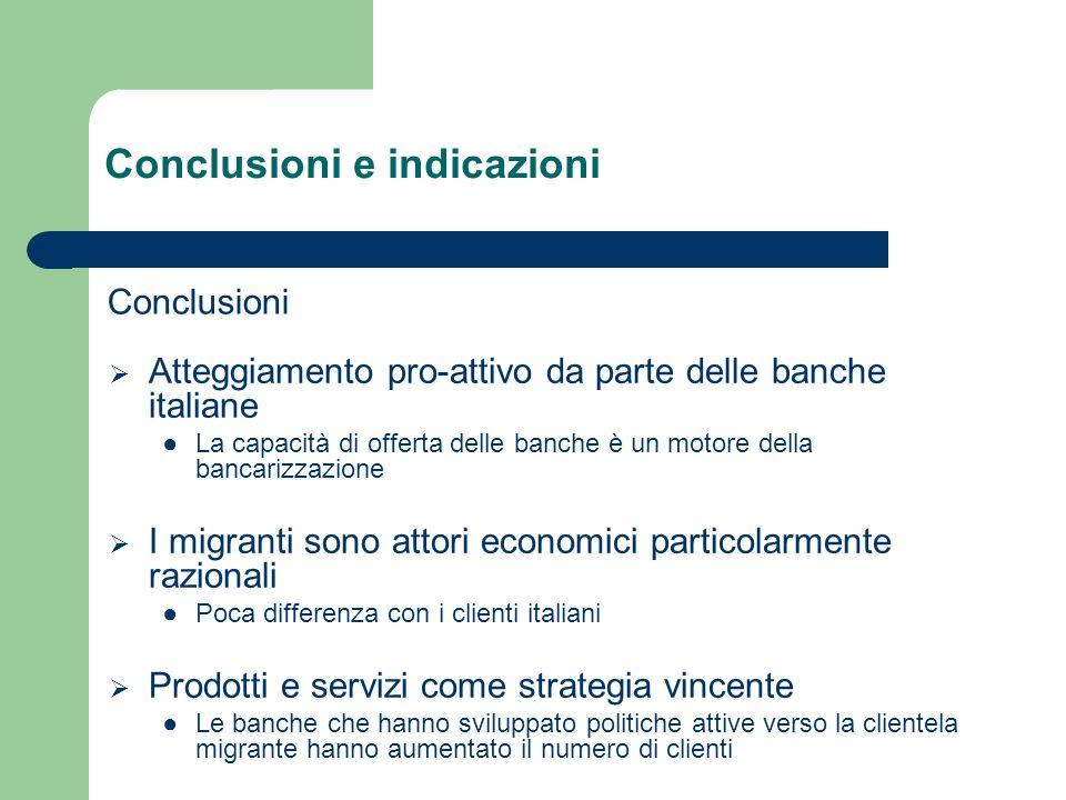 Conclusioni e indicazioni