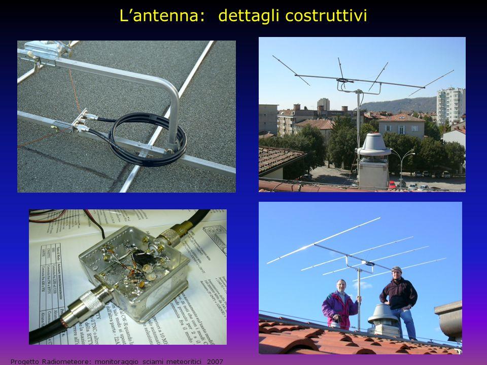 L'antenna: dettagli costruttivi