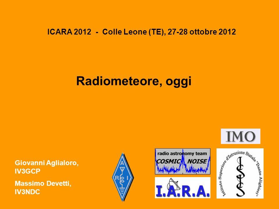 ICARA 2012 - Colle Leone (TE), 27-28 ottobre 2012