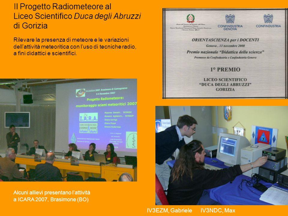 Alcuni allievi presentano l'attività a ICARA 2007, Brasimone (BO)