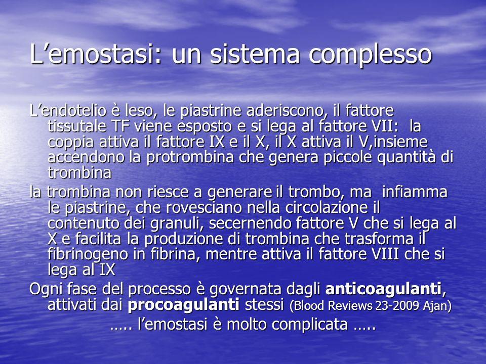 L'emostasi: un sistema complesso