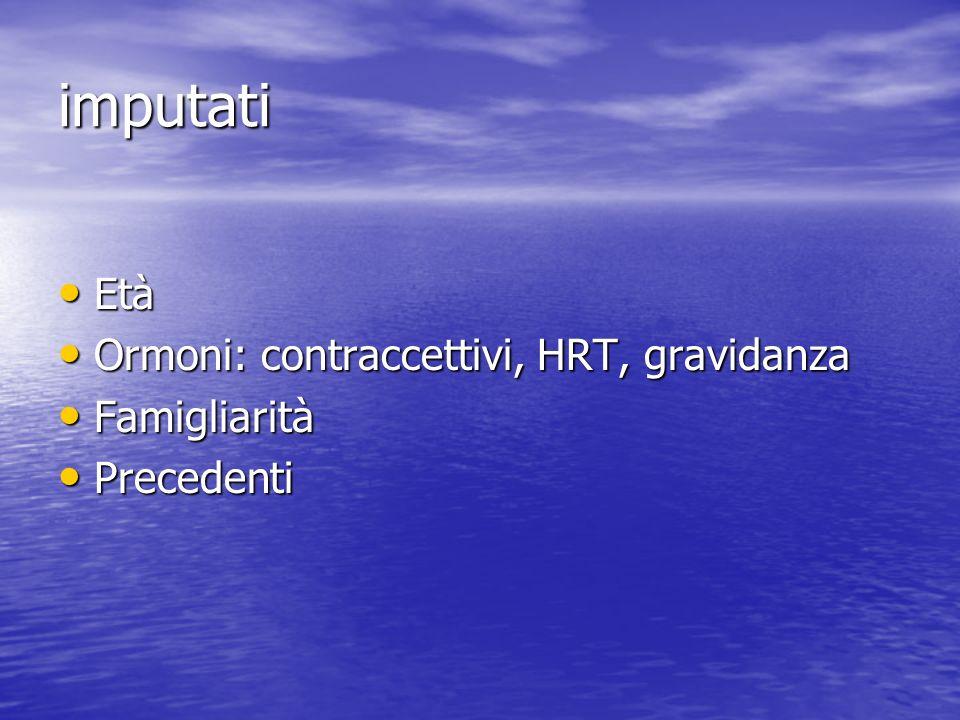 imputati Età Ormoni: contraccettivi, HRT, gravidanza Famigliarità